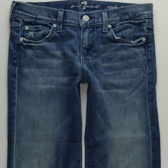 7 For All Mankind Denim - 7 For All Mankind Crop Dojo Jeans Women's 26 B279
